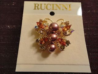 Rucinni Butterfly Brooch New Gift Boxed
