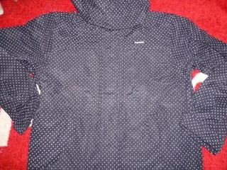 SUPREME 2012 F/W PIN POLKA DOT SHELL JACKET COAT BLACK M MEDIUM COMME
