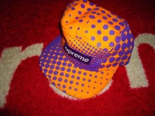 SUPREME BOX LOGO POLKA DOT CAMO MONOGRAM PURPLE CAMP CAP HAT COMME