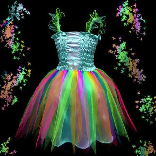b004 Xmas Halloween Blue Dance Pageant Tutu Party Girls Fancy Dress 2