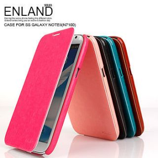 Style Flip PU Leather Case for Samsung Galaxy Note II 2 GT N7100