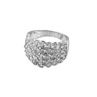 ROBERTO COIN CLASSICA COLLECTION DIAMOND RING 5 ROWS 2.72 CTW WHITE