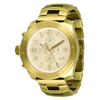 Vestal Mens RES003 Restrictor All Gold Chronograph Dive Watch