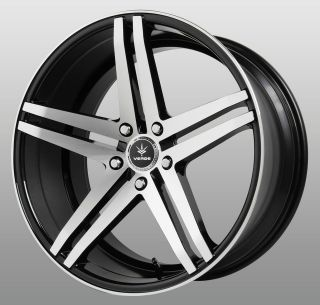 20 Inch Parallax Black Wheels Rims Staggered 5x112 Mercedes C CL CLK
