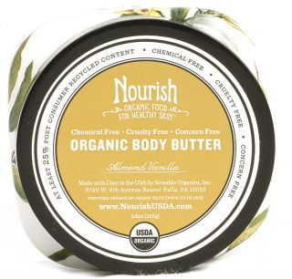 Nourish Organic Body Butter Vanilla Almond    3.6 oz   Vitacost
