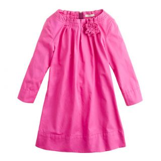 Girls sateen flower dress   party   Girls dresses   J.Crew