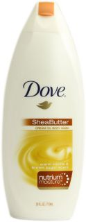 Dove Shea Butter Cream Oil Body Wash Warm Vanilla and Brown Sugar