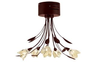 Inspire Mya Chocolate 5 Light Semi Flush Ceiling Fitting. from