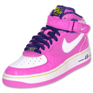 Nike Kids Air Force 1 Mid Basketball Shoes  FinishLine  Pink