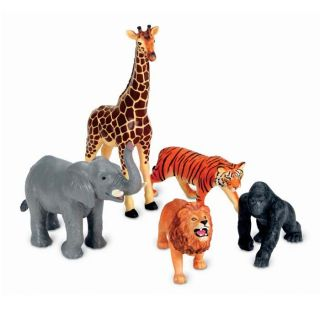 Jumbo Realistic Jungle Animal Toys at Brookstone—Buy Now
