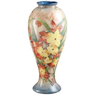 Dale Tiffany Springtime Tall Hand Painted Porcelain Vase