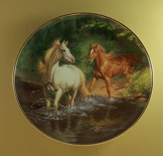 FREE AS THE WIND Plate Horse The British Horse Society Franklin Mint