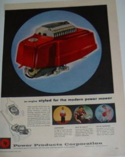 1955 Vintage Power Products Corp (Grafton WI) Mower Engine Color Print