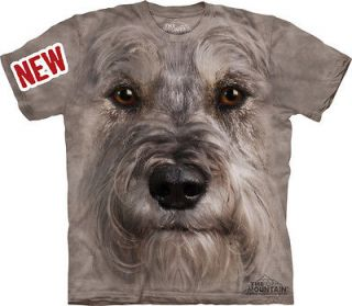 THE MOUNTAIN MINIATURE SCHNAUZER BREED PUPPY DOG FACE PET T SHIRT XXXL