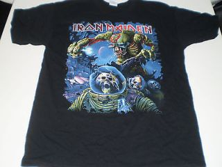 IRON MAIDEN The Final Frontier World Tour T SHIRT new mens large
