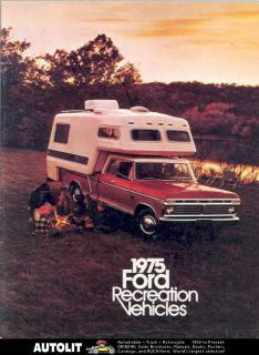 1975 Ford Pickup Camper Travel Trailer Brochure