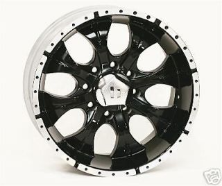 16 inch black HELO Wheels/rims Chevy Dodge GM 8 Lug