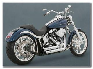Vance and Hines Shortshots Staggered Exhaust Chrome For 91 05 Dyna