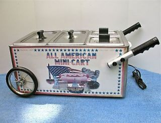 HOT DOG CART ALL AMERICAN COOK SABRETT HOT DOGS NEW YORK COOKER TABLE