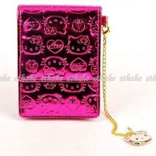 Hello Kitty Shiny Digital Camera Case Pouch Cell Phone Bag w/Chain