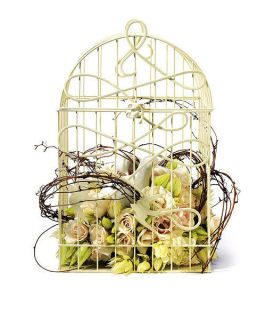 WEDDING RECEPTION DECORATIVE LOVE BIRDCAGE WISHING WELL