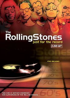 The Rolling Stones   Just for The Record DVD, 2007, 5 Disc Set