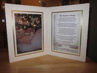 Personalized Pet Memorial The Rainbow Bridge For Loss of Cat or Dog