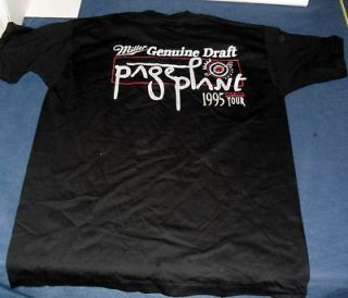 1995 JIMMY PAGE ROBERT PLANT LED ZEPPELIN BRAND NEW MILLER BEER TOUR T