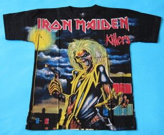 Iron Maiden   Killers All Over T Shirt size L NEW Full Print