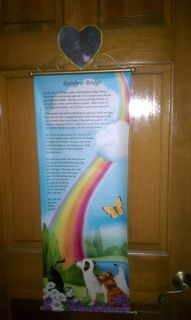 pet rainbow bridge poem banner picture frame