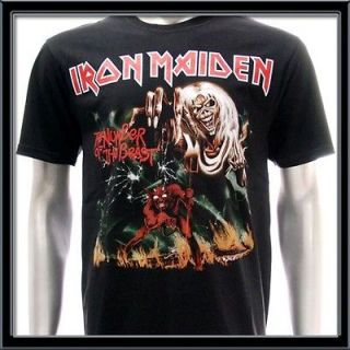 Sz M Iron Maiden T shirt Hard Metal Rock The A Matter Of Life And