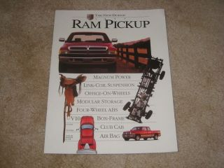 Dodge Ram pickup truck 1500 2500 LT ST Laramie SMALL sales brochure