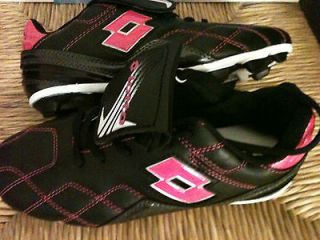 Lotto Girls Youth Soccer Cleats Shoes Pink Black Girl Size 1