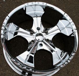 PANTHER REALM 280 22 CHROME RIMS WHEELS NISSAN TITAN PICKUP