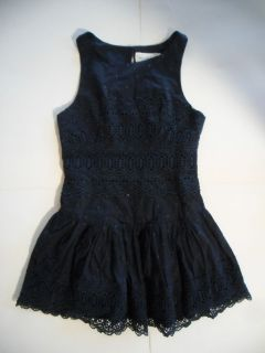 NWT Abercrombie & Fitch (Hollister) Women Leigh Lace Dress Navy Size 0