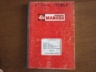 Manitou MLT 629 / 730 MLT 633 / 730 120 LS wheel loader parts manual