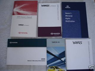 2009 toyota yaris owners manual guide books literature time left