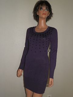 bisou women s purple sweater dress size x small nwt $ 50