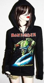 Iron Maiden Metal Punk rock DIY Slim Fit Hoodie Jacket Top Shirt