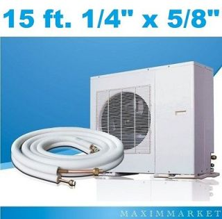 15 ft. Mini Split A/C Connection Line Set 1/4 X 5/8 for all