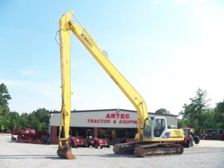 SK250 LC LR EXCAVATOR   LOADER  BACKHOE   LONG REACH BOOM   VIDEO