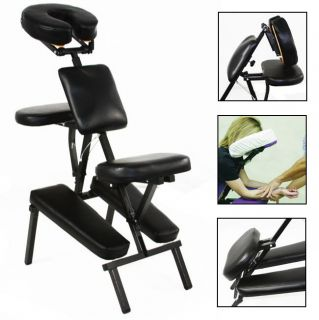 Black 3 Foam Portable Massage Chair Tattoo Shop Spa Salon Equipment
