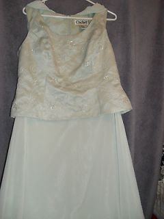 Mother of Bride/Groom D. dress   sz. 10   LIGHT GREEN   LONG   REDUCED