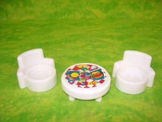 Fisher Price Little People DOLL HOUSE Furniture Table Chair s Lot Free