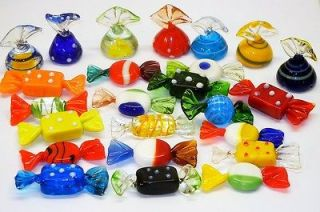 RARE Piece LOT 24 Murano GLASS Candies Christmas Venetian ORNAMENT