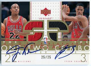TYSON CHANDLER JAY WILLIAMS RC Dual Auto Jersey One Two Combo #/25
