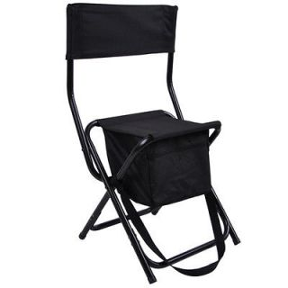 Black Folding Chest Chair 300lbs Camping Picnic Barbecue Game New