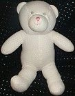 OLD NAVY 9 22 plush PINK DOTS BABY TEDDY BEAR RATTLE TOY