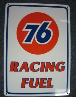 UNION 76 Racing Fuel Gas Pump SIGN Service Station Mechanic Garage