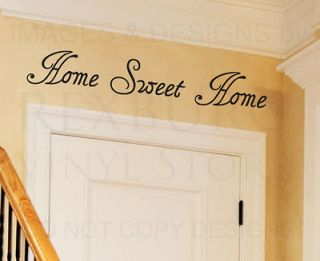 Wall Decal Quote Sticker Vinyl Art Lettering Decorative Home Sweet